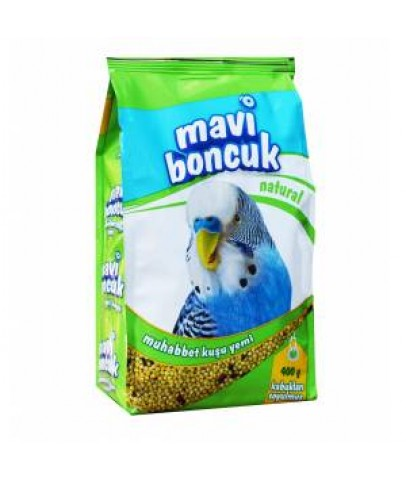 Mavi Boncuk Kabuksuz Muhabbet Kuşu Yemi 400g 12 li