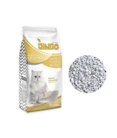 Jingo Naturel Bentonit Kedi Kumu Kalın Taneli 5 L