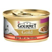 Gourmet Gold Sığır Etli ve Tavuklu Kedi Konservesi 85g 24 lü
