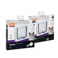 Karlie 2 Yönlü Kilitli Kedi Kapısı 19.2X20 Cm Beyaz