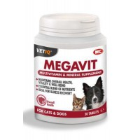 Mc Vetiq Megavit Kedi&Köpekler Için Multivitamin Tablet 30 Adet