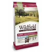 Wildfield Tavuklu ve Somonlu Tahılsız Yavru Köpek Maması 7 kg