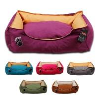 Lepus Soft Plus Mikrofiber Süet Kumaş Kedi ve Köpek Yatağı Medium 55x70x22h cm