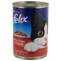 Felix Biftekli ve Tavuklu Konserve Kedi Maması 400 Gr