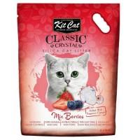 Kit Cat Mix Berries Çilek Kokulu Silika Kedi Kumu 5 Lt