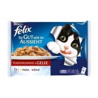 Felix Tavuklu Ve Sığır Etli Konserve Kedi Maması 100 gr (4'lü Paket)