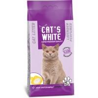 Cats White Lavanta Kokulu Topaklaşan Doğal Bentonit Kedi Kumu 6 Lt 5 Kg