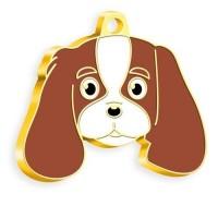 24 Ayar Altın Kaplama Cavalier King Charles Köpek Künyesi