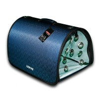 Lepus Flybag Kedi ve Köpek Ekose Seyahat Çantası Lacivert 25x40x25h cm
