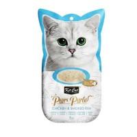 Kit Cat Purr Puree Chicken & Smoked Tütsülenmiş Tavuklu Sıvı Kedi Ödülü 4x15 Gr
