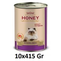Honey Premium Somonlu Kısırlaştırılmış Yetişkin Kedi Konservesi 415 Gr (10 Adet)