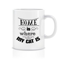 Evim Kedimin Olduğu Yerdir Porselen Kupa