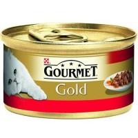 Gourmet Gold Parça Etli ve Soslu Sığır Etli Kedi Konservesi 85 Gr