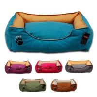 Lepus Soft Plus Mikrofiber Süet Kumaş Kedi ve Köpek Yatağı Large 70x86x22h cm
