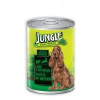 Jungle Kuzu Etli Ve Av Hayvanlı Yetişkin Köpek Konservesi 415 Gr