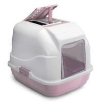 Imac Easy Cat Kapali Filtreli Kedi Tuvaleti Beyaz/Pembe 50X40X40 Cm