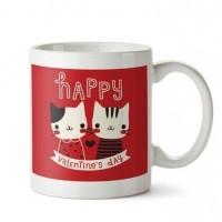 Happy Valentine's Day Kedili Porselen Kupa