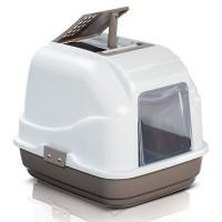 Imac Easy Cat Kapali Filtreli Kedi Tuvaleti Beyaz/Kahverengi 50X40X40 Cm