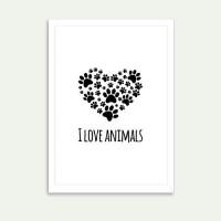 Lolidogs I Love Animals Çerçeve
