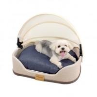İbiyaya Canopy Minderli Perdeli Kedi Köpek Yatağı 50x46x16h cm