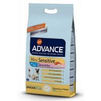 Advance Mini Sensitive Salmon&Rice Somonlu Hassas Küçük Irk Yetişkin Köpek Maması 3 Kg