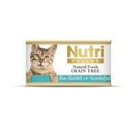 Nutri Feline Ton Balık Ve Sardalyalı Tahılsız Yetişkin Kedi Konservesi 85 Gr