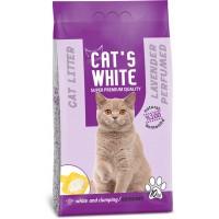 Cats White Lavanta Kokulu Topaklaşan Doğal Bentonit Kedi Kumu 12 Lt 10 Kg