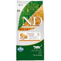 N-D Düşük Tahıllı Morina Balıklı  Portakallı Kedi Maması 10 Kg