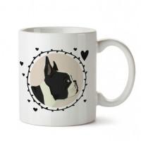 Boston Terrier Tasarım Porselen Kupa