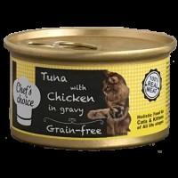 Chefs Choice Soslu Ton Balığı ve Tavuklu Tahılsız Kedi Konservesi 80 Gr