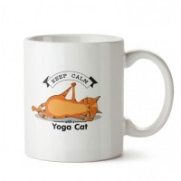 Esnek Kedi Tasarım Porselen Kupa