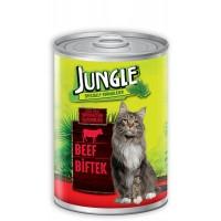 Jungle Biftekli Yetişkin Kedi Konservesi 415 Gr