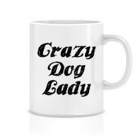 Crazy Dog Lady Porselen Kupa
