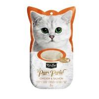 Kit Cat Purr Puree Chicken & Salmon Tavuk Ve Somonlu Sıvı Kedi Ödülü 4x15 Gr