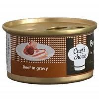 Chefs Choice Soslu Sığır Etli Kedi Konservesi 80 Gr