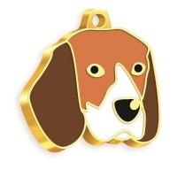 24 Ayar Altın Kaplama Beagle Köpek Künyesi
