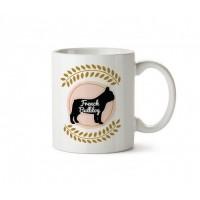 French Bulldog Tasarım Porselen Kupa