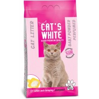 Cats White Bebek Pudrası Kokulu Topaklaşan Doğal Bentonit Kedi Kumu 12 Lt 10 Kg