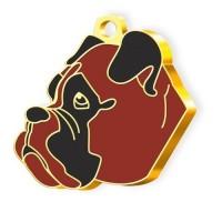 24 Ayar Altın Kaplama Boxer Köpek Künyesi