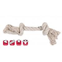 Karlie 2 Düğümlü İp Köpek Oyuncağı S 22  Cm Beyaz