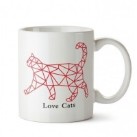 Cat Walker Tasarım Porselen Kupa