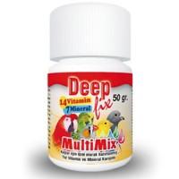Deep Fix Multi Mix Kafes Kuşları İçin Toz Vitamin Ve Mineral Karışımı 50 Gr