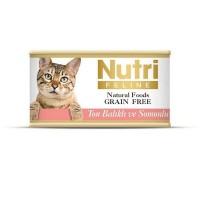 Nutri Feline Ton Balıklı Ve Somonlu Tahılsız Yetişkin Kedi Konservesi 85 Gr