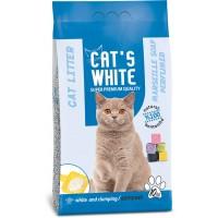 Cats White Marsilya Sabun Kokulu Topaklaşan Doğal Bentonit Kedi Kumu 12 Lt 10 Kg