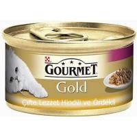 Gourmet Gold Soslu Hindili Ve Ördekli Yetişkin Kedi Konservesi 85 Gr.