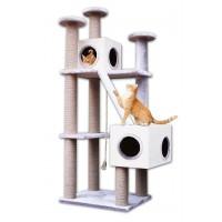 Agira Çok Katlı Yuvalı Kedi Tırmalama ve Oyun Standı Yükseklik 168 cm