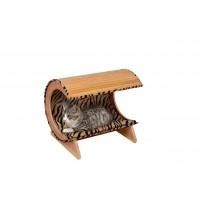 Karlie Bambu Kedi Yatağı 52X38X43  Cm Bej