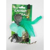Eastland Kedi Oltası Seti Fare Kuş Tüylü Top 20 Cm