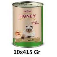Honey Premium Kuzu Etli Yetişkin Kedi Konservesi 415 Gr (10 Adet)