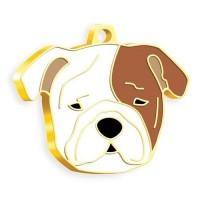 24 Ayar Altın Kaplama Bulldog Köpek Künyesi